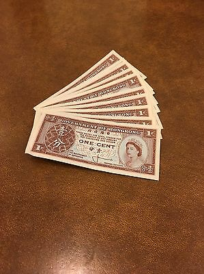 Hong Kong  12 Pieces of 1 Cent Bank Note UNC