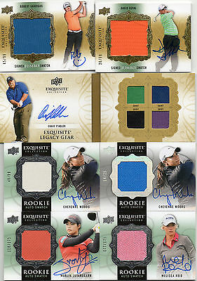 Huge 2014 Upper Deck Exquisite Golf Auto, Rookie, Base Lot RPA'S & More