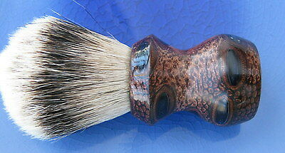 HANDMADE  SILVERTIP SHAVING BRUSH WITH BANKSIA POD  ALUMILITE RESIN -26mm Canada