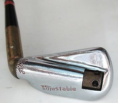 THE ADJUSTABLE Vintage Adjustable Iron Full Set in One Club Brass Hosel Ex Cond