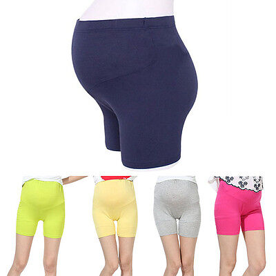 Newly Maternity Shorts Bright Color Pregnant Women Skin-Friendly Belly Bottoms