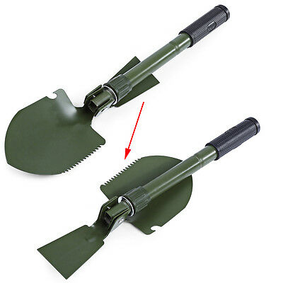 Metal Camping Foldable Sappers Shovel Pick Spade Saw Bottle Opener Compass
