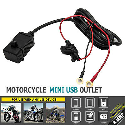 Waterproof Motorbike Motorcycle USB Charger Mobile Power Socket Adapter NEW+ UK
