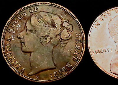 "S824: 1850's Unofficial Farthing : ""WILLIAM SHAW"", Manchester. Bell 3552"