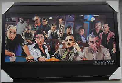 "THE BAD GUYS POSTER IN FRAME ""SCARFACE, THE GODFATHER"" Ready to Hang LICENSED"