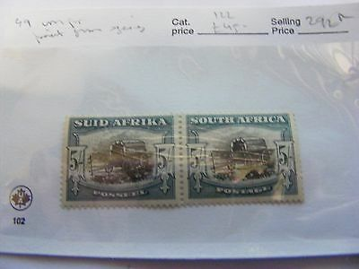 South Africa pair 5/- Wagon ..mint...slight hinge damage.