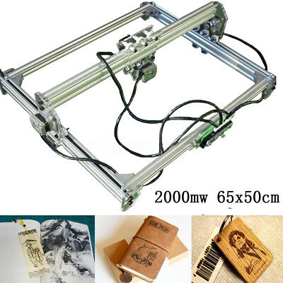 65x50CM DIY Laser Engraving Machine CNC Desktop Wood Cutter Engraver Printer Kit