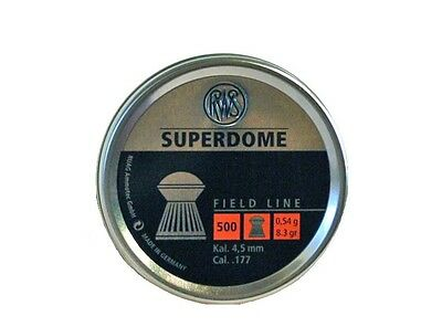 RWS SuperDome 177 Airgun Pellets .177 4.5mm in 50, 100, 500 Hunting/Pest