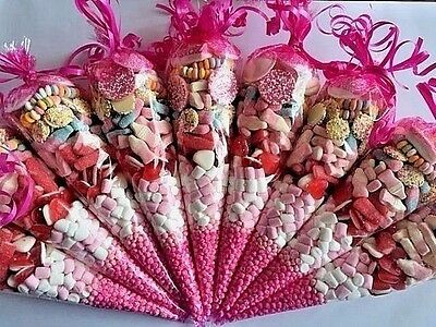 Large Pre Filled Sweet Cones Party Bag **FREE PERSONALISED STICKERS**