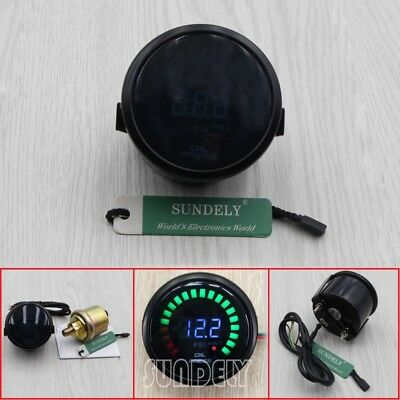 2'' 52MM Car MOTOR LED Digital Oil Press Pressure Gauge Meter Pointer 0~ 120PSI