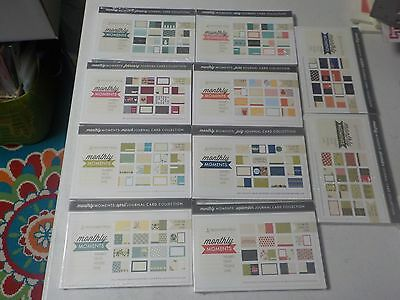 Papertrey Ink Monthly Moments Journal Card Collection 10 Months Lot A4058
