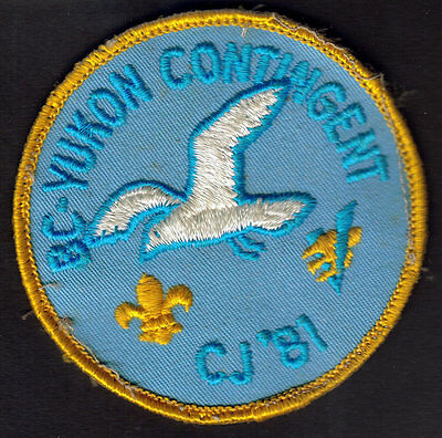 Boy Scouts Canada B.c. Yukon Contingent 1981 Canadian Jamboree Embroidered Patch