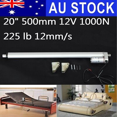 AU Heavy Duty 20'' 500mm 1000N DC Stroke Electric Linear Actuator Motor Opener