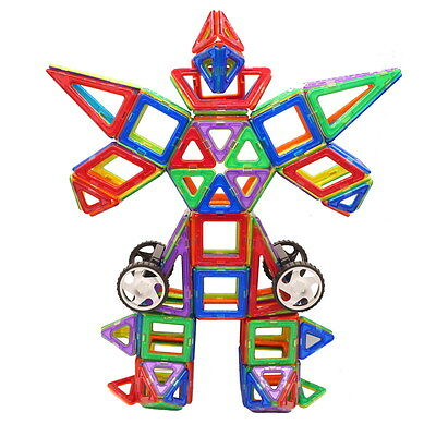 Magnetic Magformers Car Two-Wheel Construction Building Block Juggle Toys Gifts