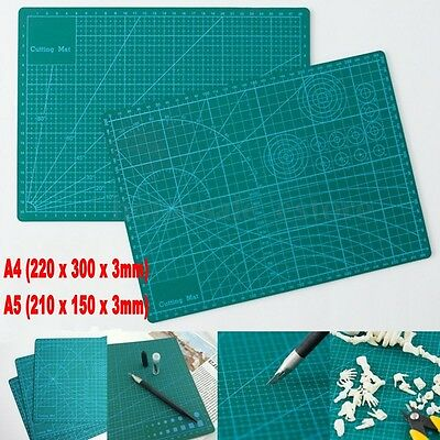 Two Size GREEN Self Healing 5-Ply Double Sided Durable PVC Cutting Mat NEW