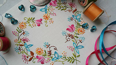 Transfered Embroidery Kit : Tranquility Brights ;Beautiful Kits by Maggie Gee