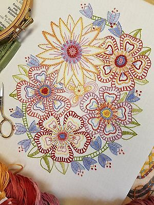 Embroidery Kit; 'Follow On Florals'(SOFT)*NEW* Advanced beginners & Returners