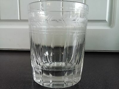 Late Georgian 19th Century cut and etched tumbler glass c1830 Regency