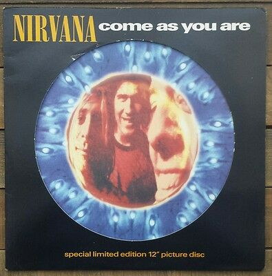 "Nirvana Come As You Are Limited Edition 12"" vinyl Picture Disk DGCTP7. VG+ cond"