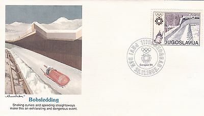 Yugoslovia 1983 6 First Day Covers Winter Olympic