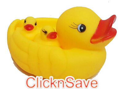 13pc Baby Bathing Floating Rubber Squeaky Ducks Play Water Bath Pool Tub Toys UK