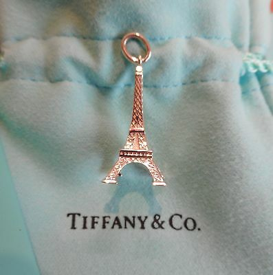 "Tiffany & Co ""Eiffel Tower"" Charm in Sterling Silver, New with Receipt RRP$300!"