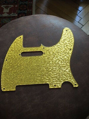 "Telecaster Pickguard "" GOLD 3 D""  WOW"