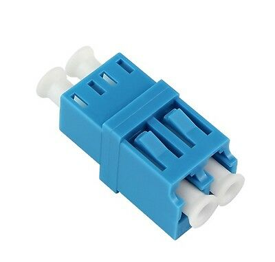 New  LC/UPC Singlemode Duplex Fiber Optic Adapter Coupler Connector RJ45 Shape