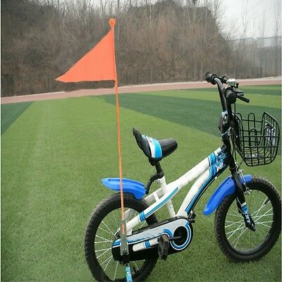 Kids Children Bicycle Bike Safety Flag Orange 1.5m In Two Lengths & Axle Fitting