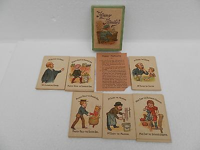24 Spare Cards (6 Complete Families) ~ Funny Families ~ Vintage Card Game