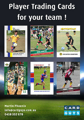 Custom Made Player Trading Cards - Footy Cards