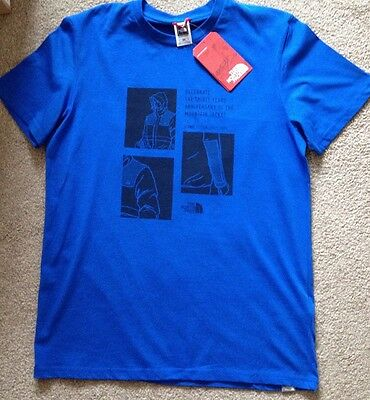 The North Face t-shirt Celebration Tee Monster Blue NEW size M