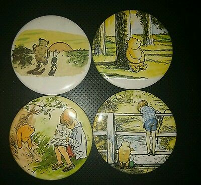 4 x Winnie the Pooh fridge magnets