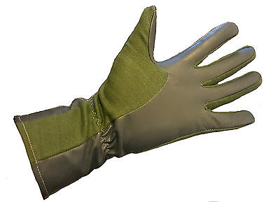 Nomex Gloves, Fire Resistant, Pilot, Racing, Mechanic, Green, Different Sizes