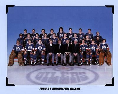 1981 Edmonton Oilers Team Photo 8X10