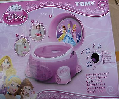 TOMY Disney Princess 3-in-1 Pink Girls Potty Chair Training Seat System