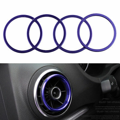 4pcs/set Car Key Switch Decoration Ring Interior Styling Suitable For Audi A3 PR