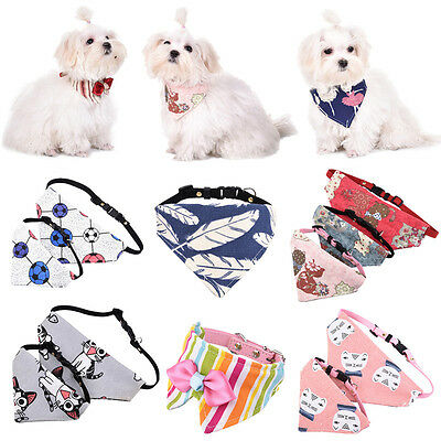 Adjustable Pet Dog Puppy Cat Triangle Neck Scarf Bandana Collar Neckerchief