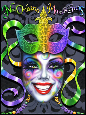 #1 of Mardi Gras 2017 on canvas -signed/n. giclee