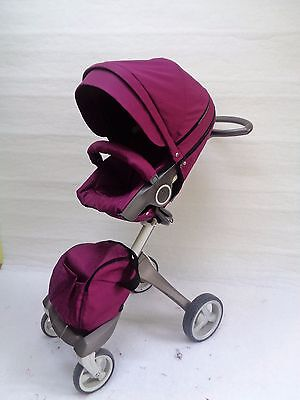 Purple style kit for Stokke Xplory V3,V4,V5, Trailz,Cruzi including shopping bag