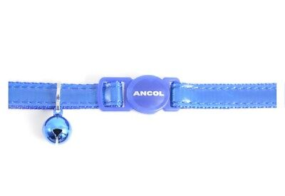 Ancol Safety Buckle Cat Collar Gloss Reflective Blue