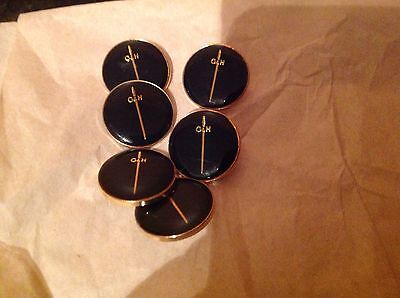Gieves & Hawkes Black And Gold 20 Mm Buttons For Blazers Waistcoats Etc