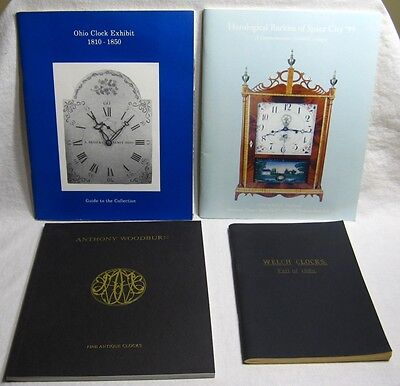 Lot of 4 vintage catalogs & exhibitions on clocks and clockmakers.