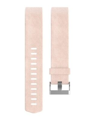 Fitbit Charge 2 Genuine Leather Accessory Band Fitness Strap Blush Pink Large