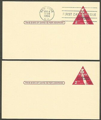 2-1956 Fipex 5Th Int Philatelic Exhibition 2C Postal Cards 1-First Day Of Issue