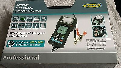 Ring 12v Graphical Battery Analyser Tester with Printer RBAG700 (m)