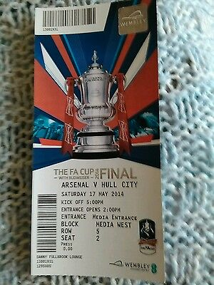 Hull City v Arsenal  FA Cup Final  Ticket MINT CONDITION 17/5/2014