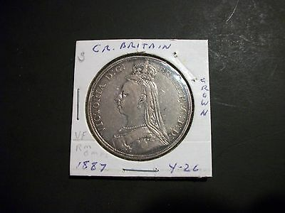 Great Britain 1887 Crown Large Silver Coin