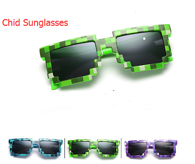 New Child Fashion Unique Pixel Plaid Mosaic UV400 Glasses Sunglasses A209