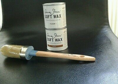 Annie Sloan Paint Brush for Chalk Paint + small 120ml tin of Clear & 1 Dark Wax